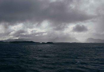 Glasschilderij Stormy Seas