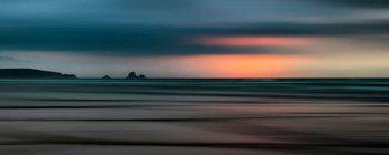 Glasschilderij  The Painted Beach