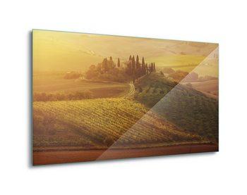 Glasschilderij Tuscan Dream