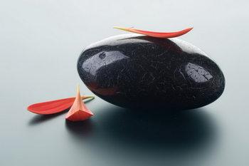 Glasschilderij Zen - Pure