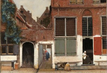 Glastavla The Little Street, Vermeer