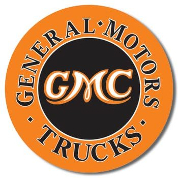 Metalen bord GMC Trucks Round