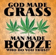 GOD MADE GRASS Autocolant