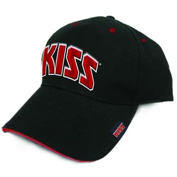 Gorra Kiss - Red On White Logo