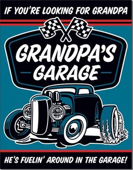 Grandpa's Garage - Fuelin  Metalen Wandplaat