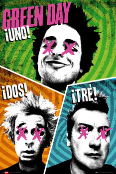 Green Day - trio - плакат (poster)