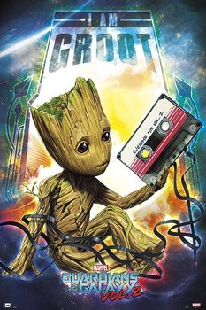 Ingelijste poster Guardians Of The Galaxy Vol 2 - Groot