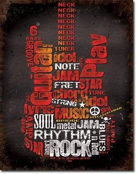 Guitar Inspiration Plaque métal décorée