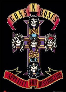 Bekeretezett plakát Guns'n'Roses - appetite