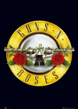 Guns'n'Roses - logo - плакат (poster)