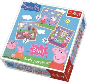 Puslespil Gurli Gris (Peppa Pig) 3in1