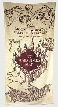 Håndklæde Harry Potter - Marauder's Map