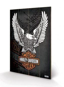 Bild auf Holz HARLEY DAVIDSON - eagle