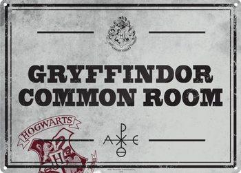 Harry Potter - Common Room Plaque métal décorée
