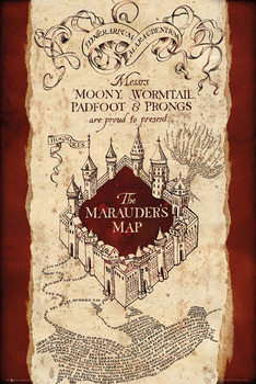 Harry Potter - Marauder's Map - плакат (poster)