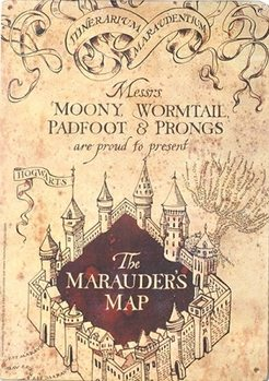 Harry Potter - Marauders Map Metalen Wandplaat