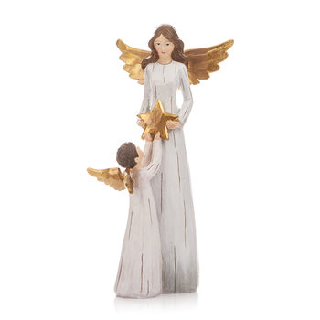 Angel Gold with Little Angle, 27 cm Heimdekoration