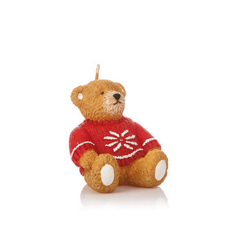 Candle Bear in Sweater, 8 cm Heimdekoration