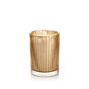 Candle in Glass Metal - Vanilla, Gold 9 cm Heimdekoration