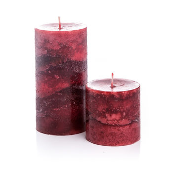 Candle with Lid-Cinnamon, Red, 14cm Heimdekoration
