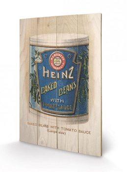 Bild auf Holz Heinz - Vintage Beans Can