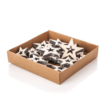 Christmas Box Wooden Decorative Stars, Various Sizes Heminredning