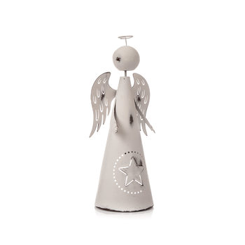 Metal Angel White with Star, 26 cm Heminredning