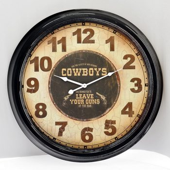 Hodiny Design Clocks - Cowboys
