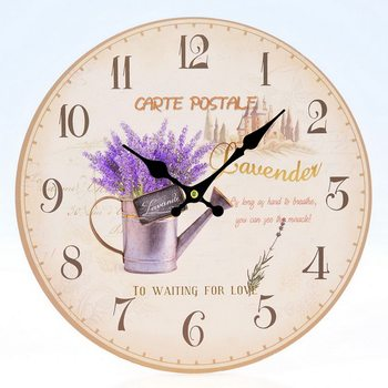 Hodiny Design Clocks - Lavender / Carte Postale