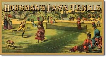 HORSMAN'S LAWN TENNIS Metalplanche