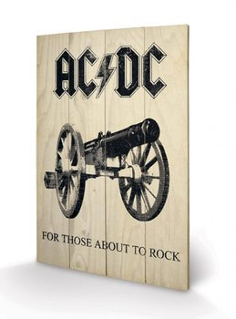 AC-DC - For Those About to Rock kunst op hout