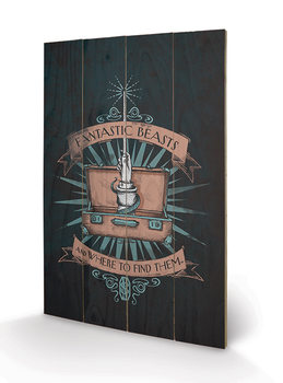 Fantastic Beasts And Where To Find Them - Magical Case kunst op hout