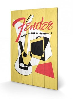 Fender - Abstract kunst op hout