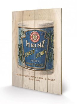 Heinz - Vintage Beans Can kunst op hout
