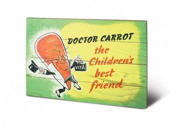 IWM - doctor carrot kunst op hout