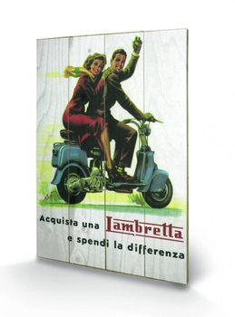 Lambretta - Differenza kunst op hout