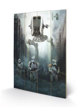 Rogue One: Star Wars Story - Stormtrooper Patrol kunst op hout