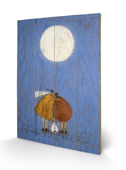 Sam Toft - A Moon To Call Their Own kunst op hout