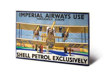 Shell - Imperial Airways kunst op hout