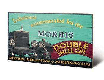 Shell - Morris, 1928 kunst op hout