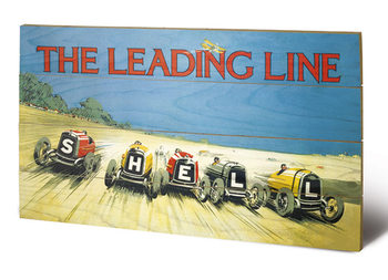 Shell - The Leading Line, 1923 kunst op hout