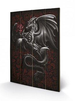 Spiral - Dragon Rose  kunst op hout