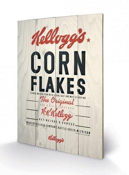VINTAGE KELLOGGS - corn flakes kunst op hout