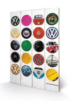 VW - Collage kunst op hout