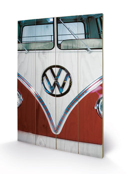 VW - Red kunst op hout