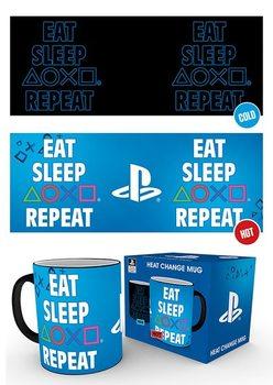Hrnček Playstation - Eat Sleep Repeat
