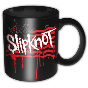 Hrnček  Slipknot – Dripping Flag And Logo