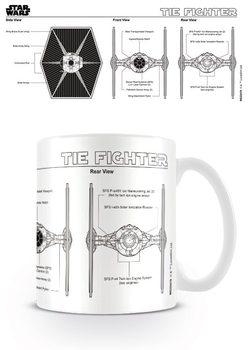Hrnček  Star Wars - Tie Fighter Sketch