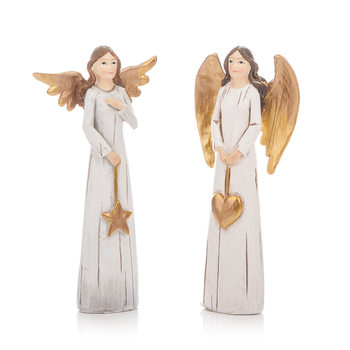 Angel Gold, 11 cm, set of 2 pcs Huis Decoratie
