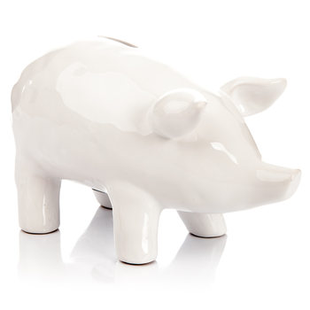 Piggybank Pig – Large, White Huis Decoratie